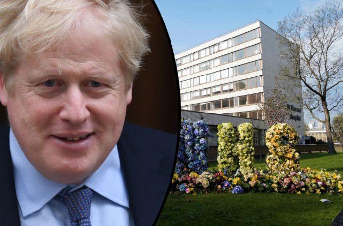 Boris Johnson werd vorige week zondag opgenomen in het St Thomas' ziekenhuis in Londen.