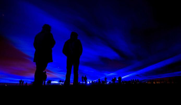 Het project Waterlicht van kunstenaar Daan Roosegaarde.