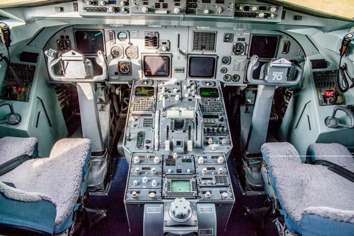 De cockpit van de KBX, waar koning Willem-Alexander meer dan eens in plaatsnam