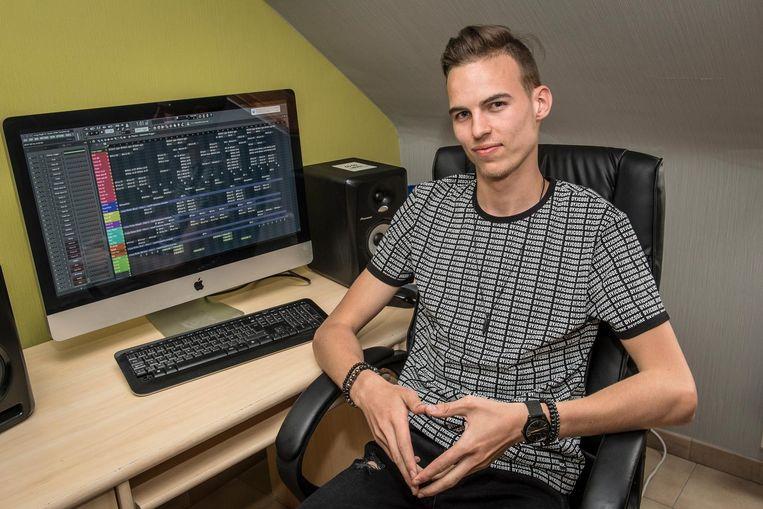 De jonge dj Bryan Vandecasteele werkt aan zijn eerste single voor Armada Music.