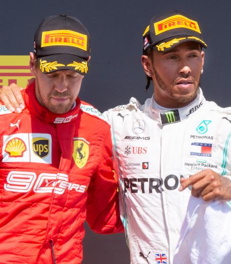 Hamilton mist de strijd met Ferrari: 'Vettel zal zich herpakken'