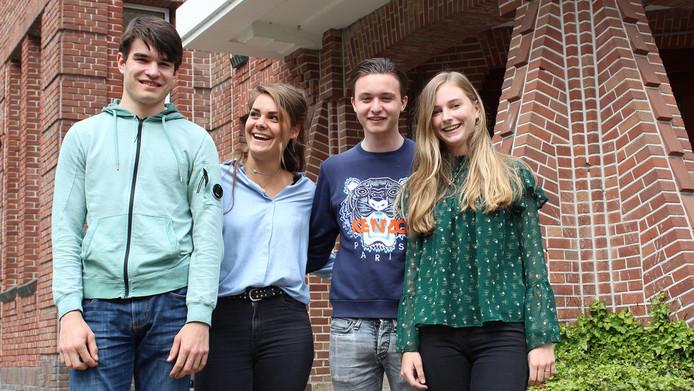 Juliette (16), Marnix (16), Maryse (15) en Ties (17) kregen als opdracht: 'Kijk naar een probleem en zoek daar een oplossing voor'.