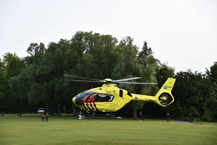 Traumahelikopter, ter illustratie.
