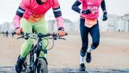 Fiets- en loopwedstrijd op strand van Knokke geannuleerd door kliffen en voorspelde storm
