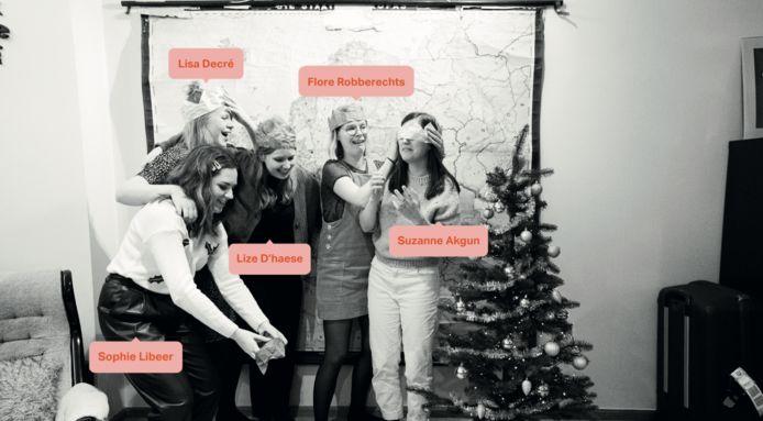 Suzanne, Flore, Lisa, Lize en Sophie maakten de succesvolle Instagrampagina 'Blijfinuwkot'.
