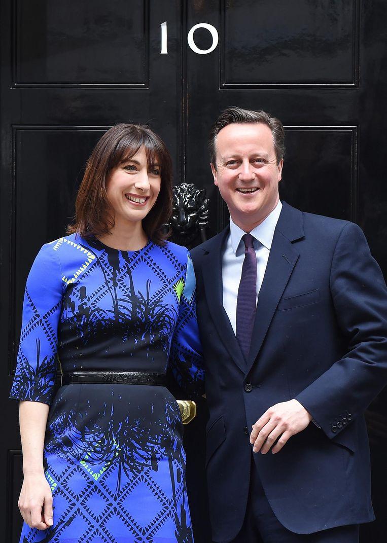 David Cameron met zijn vrouw Samantha, 2015. Beeld null