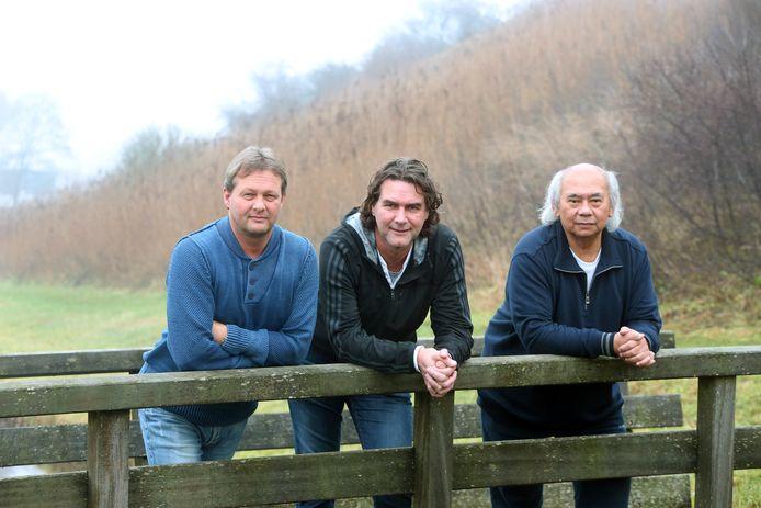 Bas Steffens, Rob Pronk en Melbi Raboen (v.l.n.r.) vonden inspiratie voor hun voorspellingen in het bos.