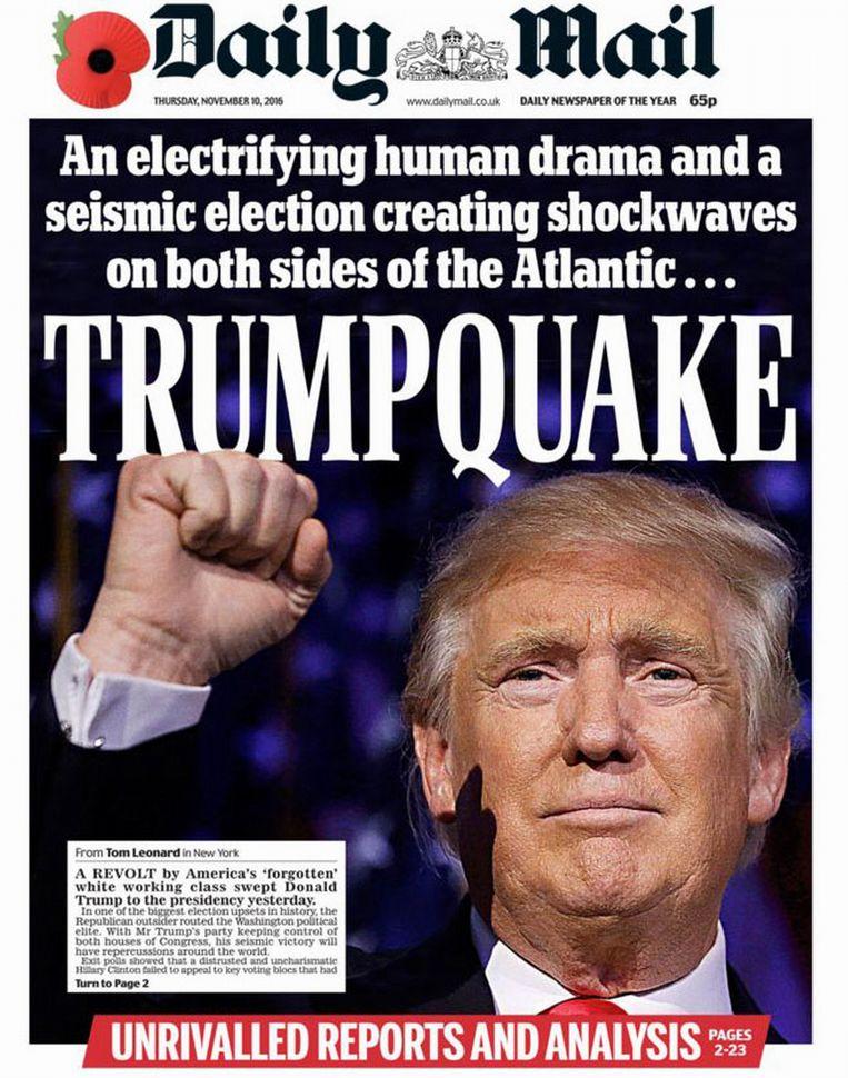 De cover van de Daily Mail van donderdag. Beeld photo_news