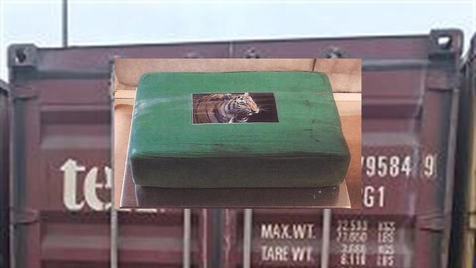 Op de verpakking van de drugs zat een afbeelding van een tijger.