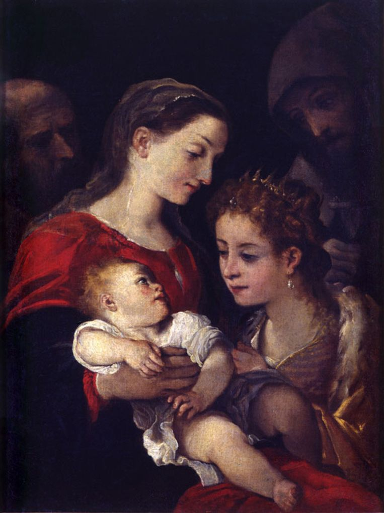 Holy Family with Saints Francis and Catherine of Alexandria, Ludovico Carracci (1555-1619)
