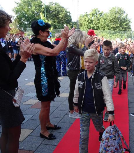 Eerste schooldag in Haaren wordt gevierd met vleugje glamour