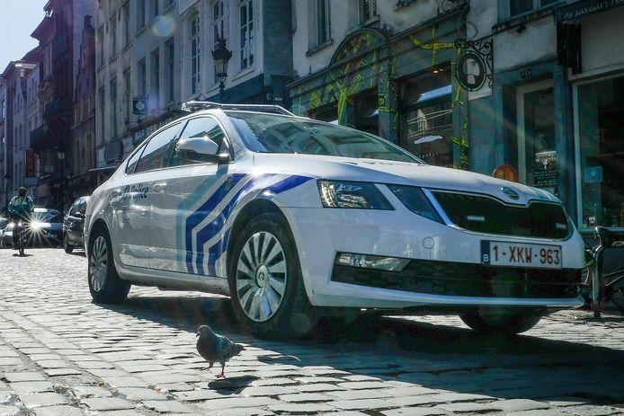 (Illustratiebeeld) Brusselse politie.