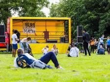 Demonstranten verzamelen zich in Weizigtpark voor Black Lives Matter-protest