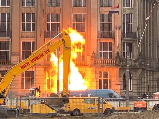 Een gaslek zou de oorzaak van de brand zijn.