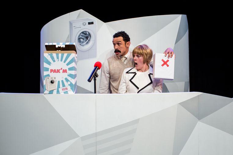 Dionisio Matias (links) en Linda Zijl in Pak 'm van BonteHond Beeld Kamerich & Budwilowitz/Eyes2