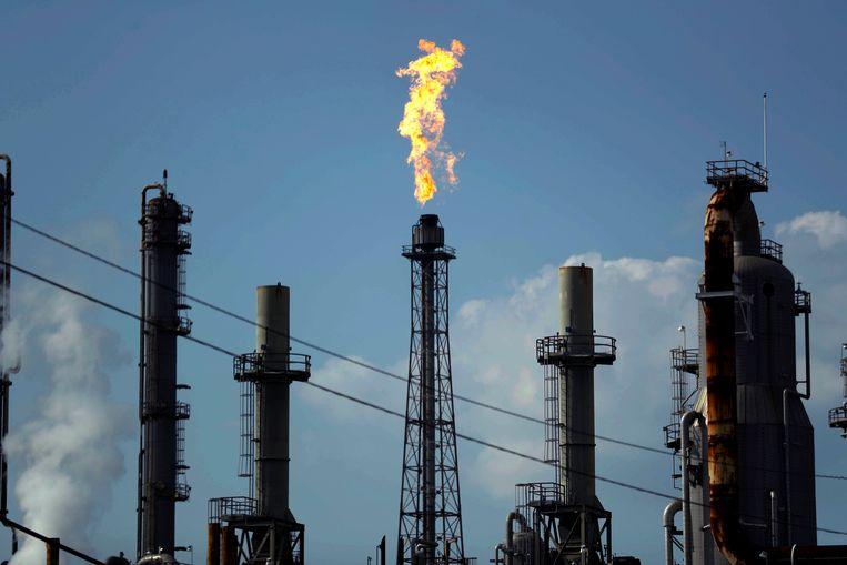 Een olieraffinaderij in Texas. Beeld AP