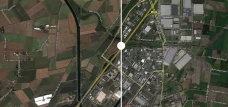 Borchwerf II 15 jaar later, grote blokkendozen in het landschap