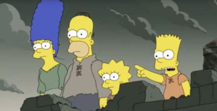 'The Simpsons' voorspelt het einde van 'Game Of Thrones'.