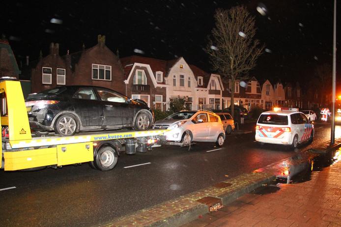 Vier auto's afgesleept na ongeval Vlissingen