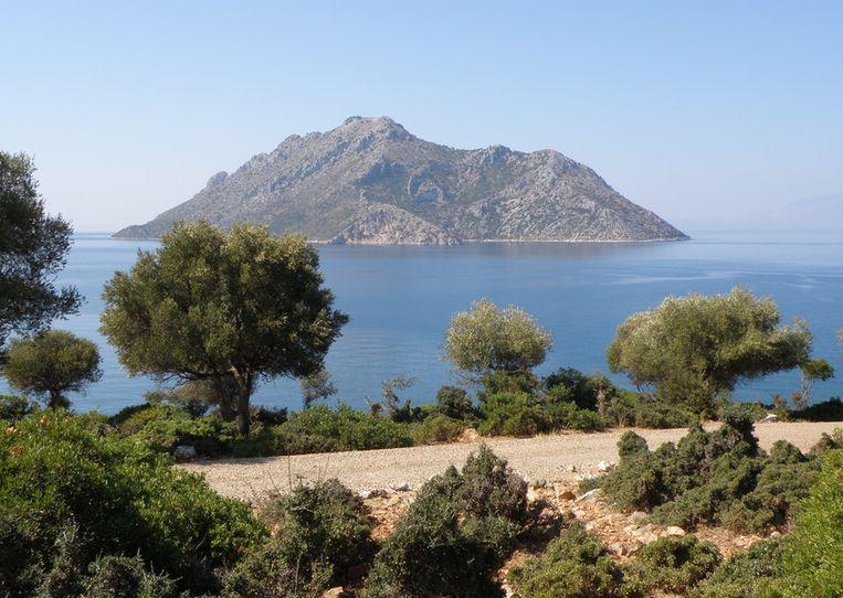 Voor het eiland Oxia telde de emir 5 miljoen euro neer.