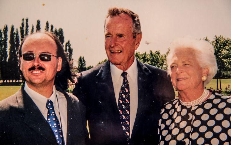 Kris Van Parys, samen met George Bush sr en zijn vrouw Barbara.