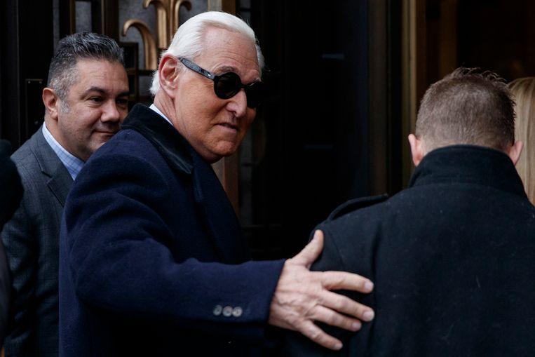 Roger Stone werd in november schuldig bevonden wegens zijn rol in het zogenoemde Mueller-onderzoek. Beeld EPA