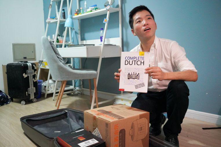 Student Leo (Chinese naam: Zhou Huiyong) gaat in Nederland studeren.   Beeld Ruben Lundgren