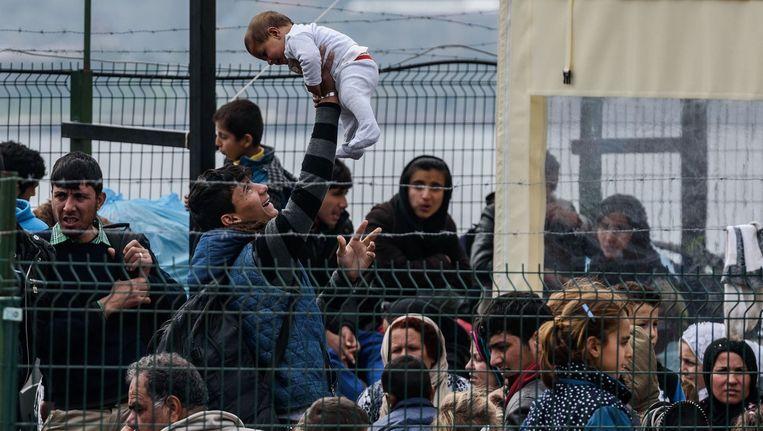 Syrische vluchtelingen in Turkije. Beeld afp