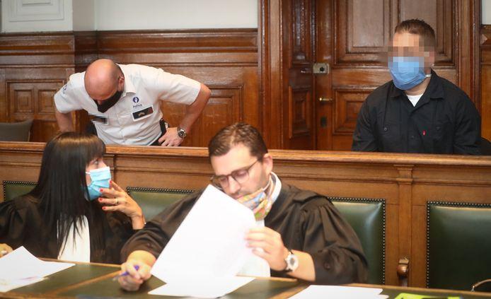 Lonnie Meunier deze week in de rechtszaal in Namen.