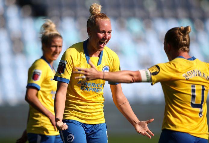 Danique Kerkdijk is blij met het punt tegen topclub Manchester City in de Womens Superleague.