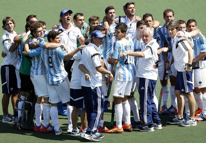 De Argentijnse hockeyers op een archieffoto.