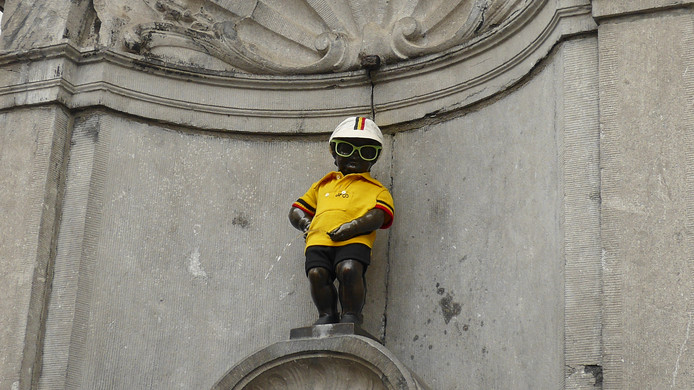 """""""Bruxelles s'habille de la couleur du maillot jaune pour le Grand depart du Tour de France"""""""