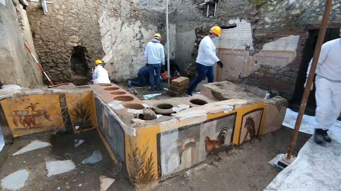 De in Pompeï opgegraven snackbar.