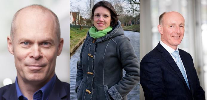 Cees van Eijk (GroenLinks), Astrid Janssen (GroenLinks) en Willem-Jan Stegeman (D66).