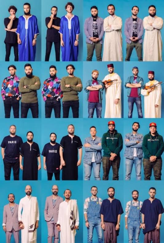 24 moslims en hipsters wisselden van kleding en gingen met elkaar op de foto voor een tentoonstelling over stereotypering.