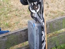 Politie treedt op tegen skateboard met motortje in Deventer