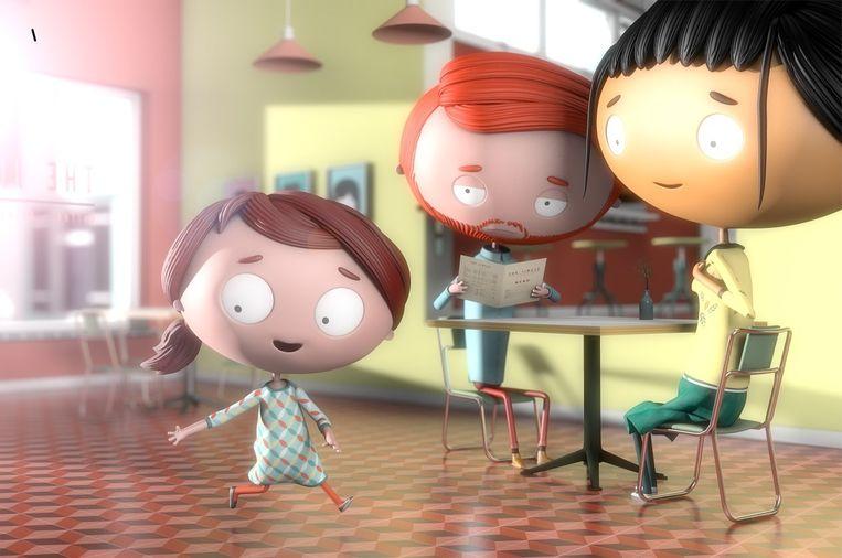 De film (Otto) gaat over een meisje met een imaginair vriendje. Beeld