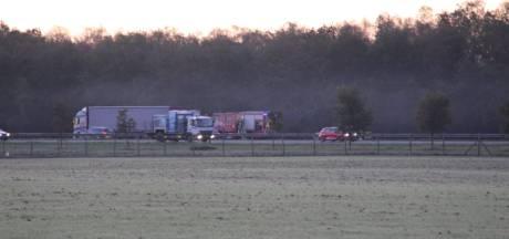Twee gewonden bij ernstig ongeval op A1 bij Rijssen