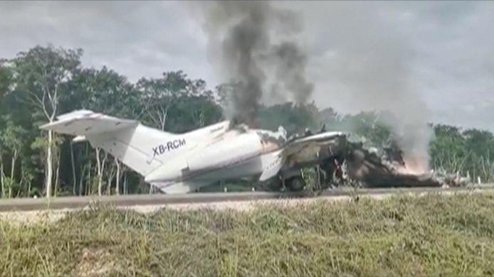 Het toestel kwam vermoedelijk uit Venezuela en werd gevolgd door de Mexicaanse luchtmacht.
