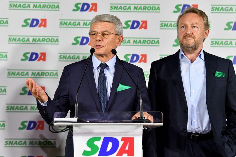 Sefik Dzaferovic en Bakir Izetbegovic van SDA.