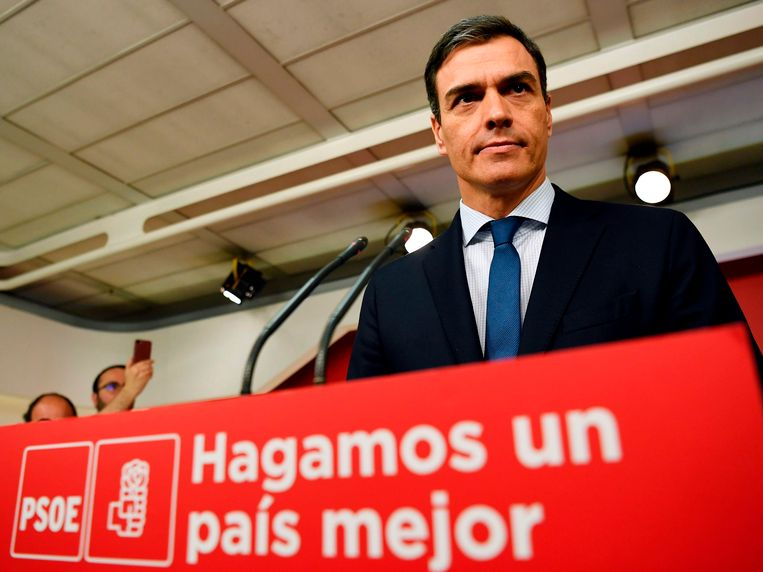 PSOE-leider Pedro Sanchez.