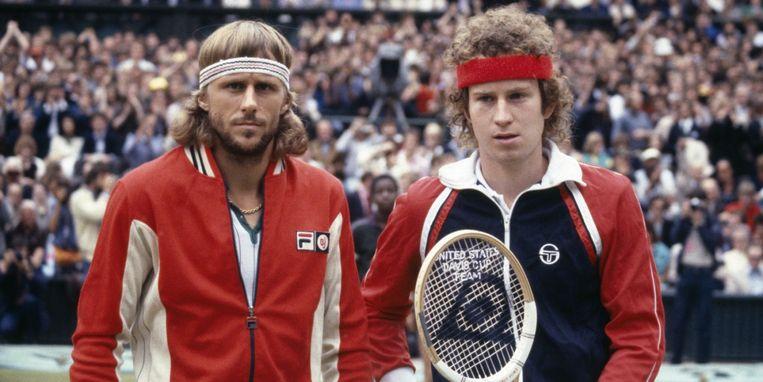 Björn Borg en John McEnroe. Beeld Getty