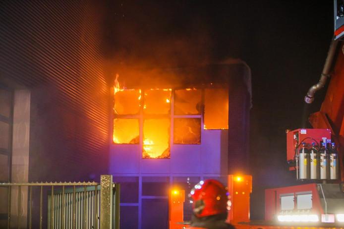 De brand dinsdagavond bij autowasserij Autorette.