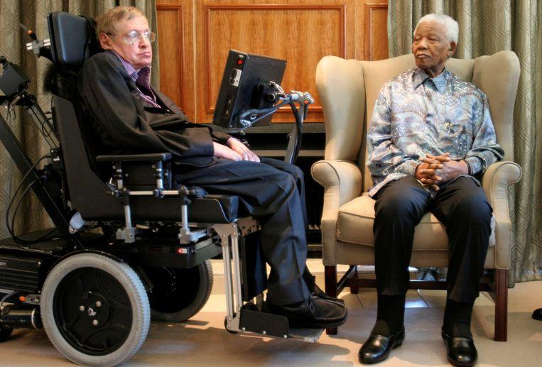 Met Nelson Mandela in Johannesburg in 2008 Beeld reuters