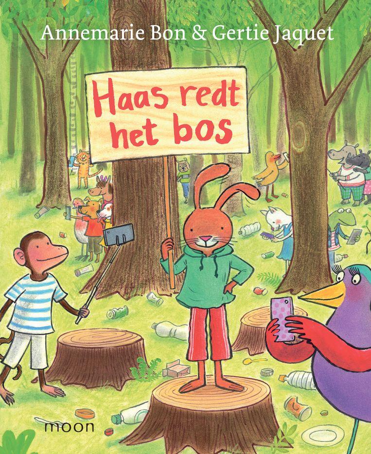 Annemarie Bon Haas redt het bos Met illustraties van Gertie Jacquet, Moon, €16,99, 92 blz. Beeld