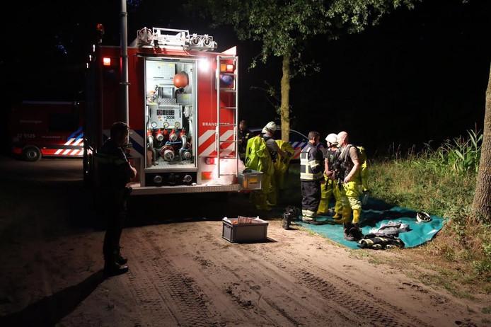 De brandweer ging af op de melding van de gevonden vaten