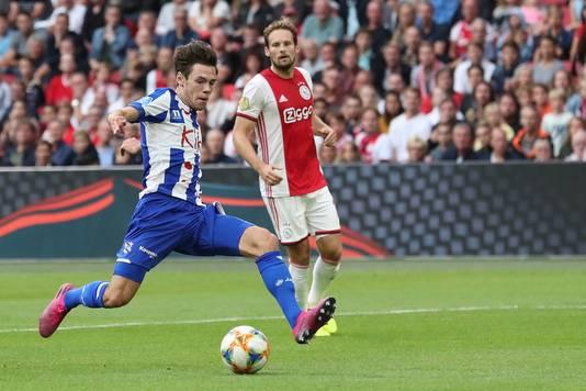 Mitchell van Bergen vorige week tegen Ajax.