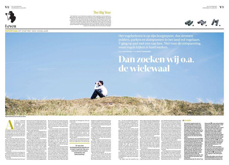 12 juni 2013. Dan zoeken wij o.a. de wilewaal, door Haro Kraak. Beeld de Volkskrant