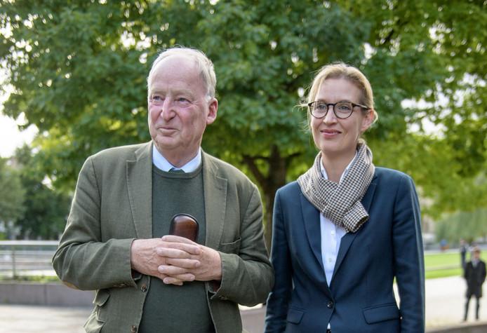 Alexander Gauland en Alice Weidel