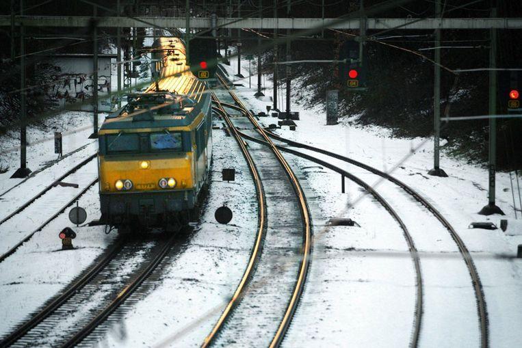 Trein in de sneeuw (ANP) Beeld